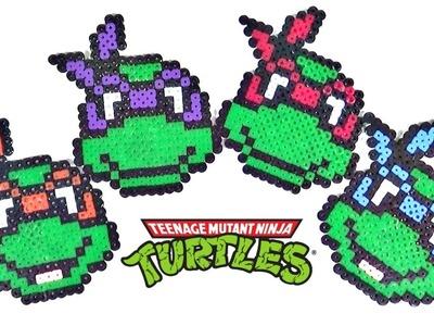 Posavasos de Tortugas Ninja con Hama Beads MUY FÁCIL | MundoaParty