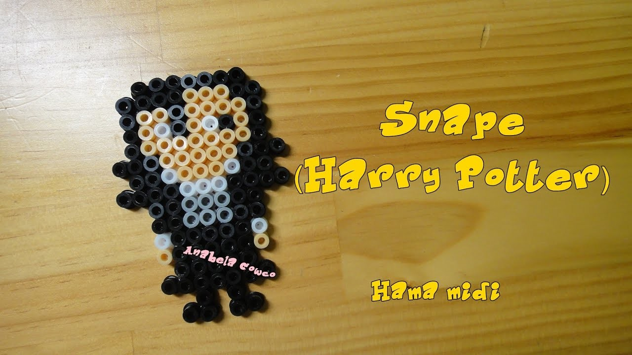 SNAPE (Harry potter) de hama beads. pyssla. perler beads