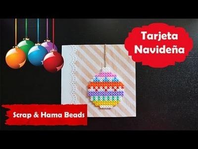Tarjeta de Navidad Scrap & Hama beads