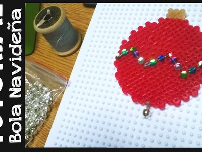 TUTORIAL: Bola Navideña de hama beads