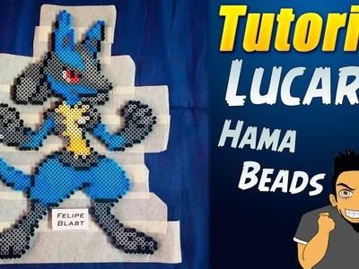 Tutorial ★ Como hacer a Lucario (30 CMS)  en Hama.Perler Beads