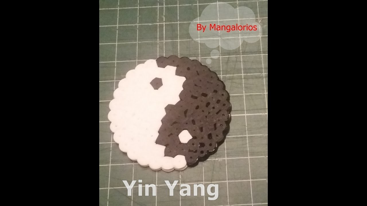 Yin Yang hama beads midi