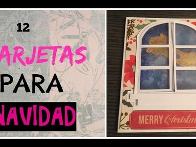 12 days of Christmas card.12 Tarjetas para Navidad #11