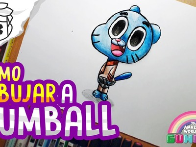 Como dibujar a Gumball - How to draw The Amazing World of Gumball