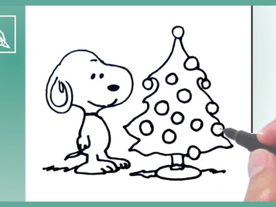 Cómo Dibujar un Árbol De Navidad Con Snoopy - How To Draw a Christmas Tree With Snoopy | Dibujando