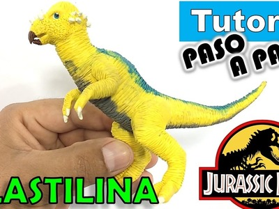 ✅COMO HACER UN DINOSAURIO PACHYCEPHALOSAURUS DE PLASTILINA * JURASSIC PARK  ✅ MI MUNDO DE PLASTILINA