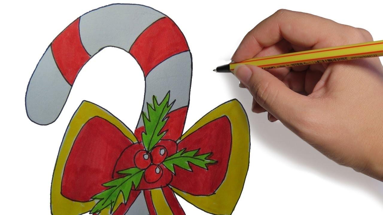 Dibujos De Navidad Caramelo Paso A Paso Dibujos A Color Para Ninos