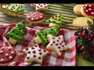Galletas de Manequilla Decoradas de Navidad | Cómo Decorar Galletas Navideñas