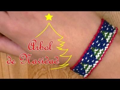 Pulsera de Hilo: Arbol de Navidad (especial para Navidad)