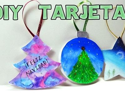 Tarjetitas de Navidad fáciles! - Easy Christmas Cards!