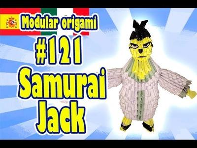 3D Origami modular #121 Samurai Jack