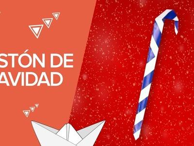 Bastón de caramelo de Navidad | Origami para niños