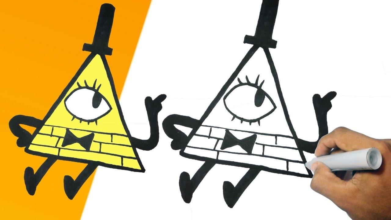Como Dibujar A Bill Gravity Falls Paso A Paso