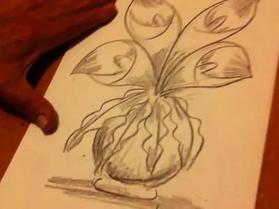 Como dibujar un florero