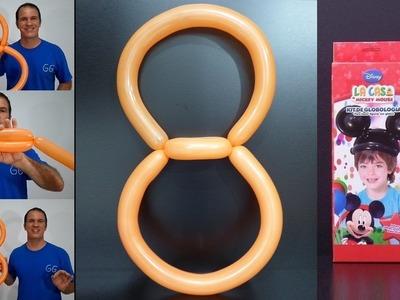 Como hacer números con globos - como hacer el numero 8 con globos largos - globos tuky