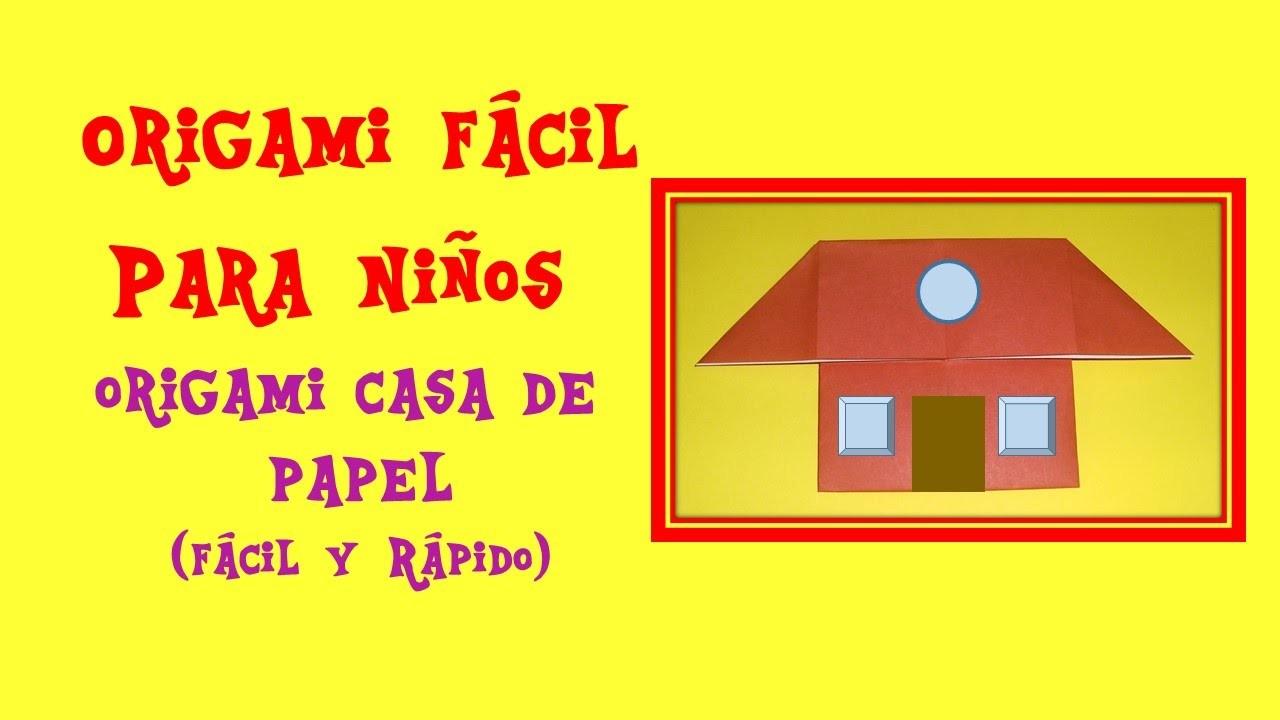 Como hacer una casa de papel origami casita house origami for Como hacer artesanias en casa