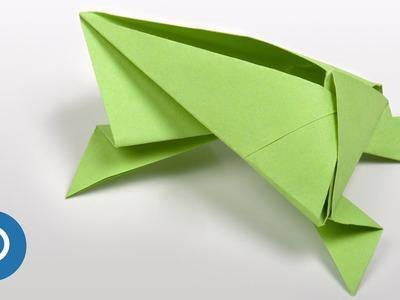 Cómo hacer una RANA de PAPEL - Origami ANIMALES