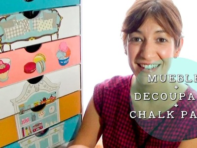 DECORAR UN MUEBLE CON DECOUPAGE CON TELA Y CHALK PAINT