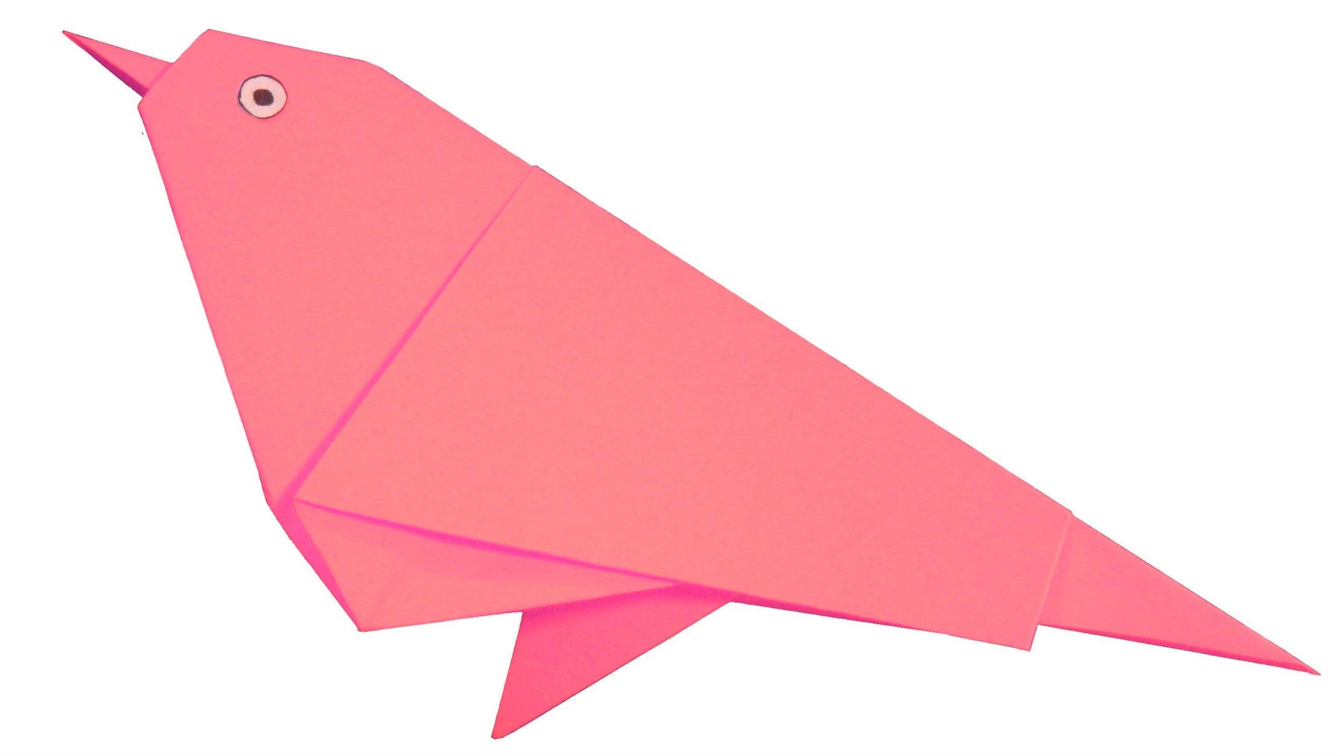 Gorrión de origami