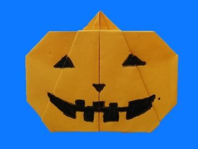 Halloween calabaza de origami  - Como hacer una calabaza del papel del origami