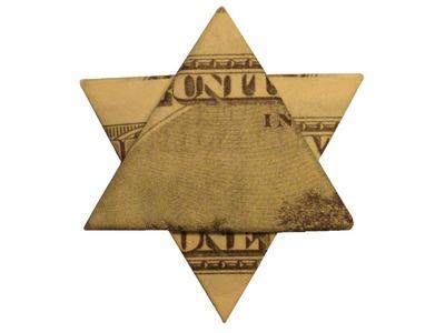 Origami de dinero. Estrella de David