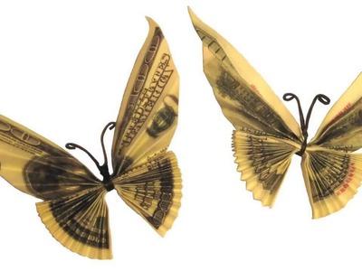 Origami de dinero. Mariposa