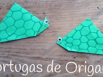 TORTUGA de papel paso a paso |  ORIGAMI fácil para niños