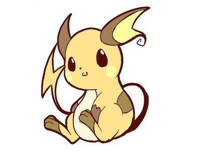 Cómo dibujar Pokémon Raichu Kawaii