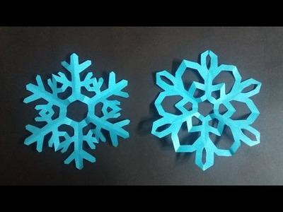 Como hacer Copos de nieve de papel (2 parte) - Paper snowflakes Origami(Tutorial)