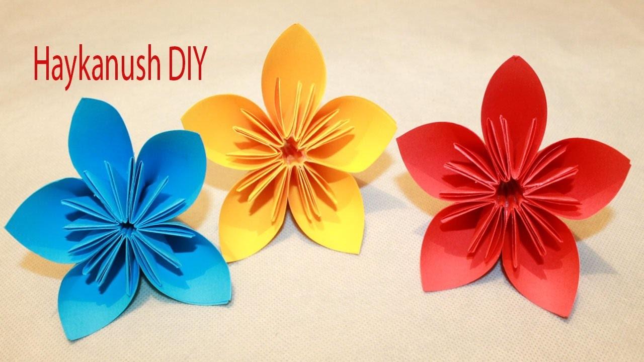 Como hacer flores de papel origami faciles my crafts and - Como hacer rosas de papel ...
