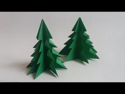 Como hacer un arbol de Navidad de papel - Christmas Tree Origami