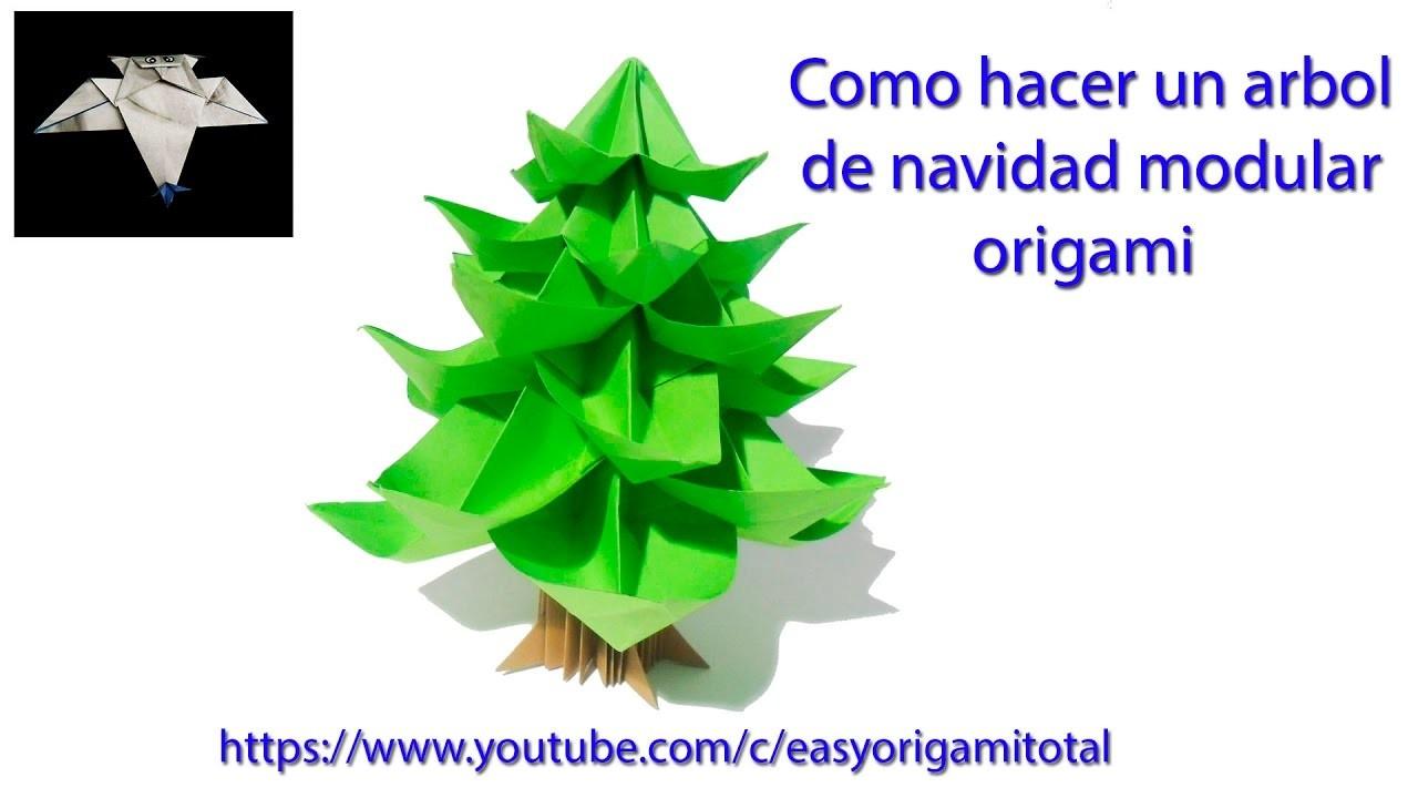 Como hacer un arbol de navidad creativo origami origami for Como hacer un arbol de navidad original