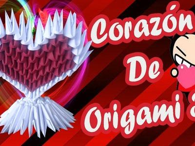 Como hacer un corazòn de origami 3d.Origamileo