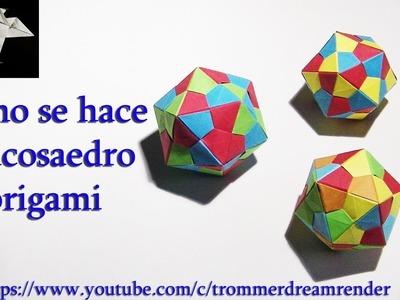 Como hacer un icosaedro origami how to make an origami icosahedron