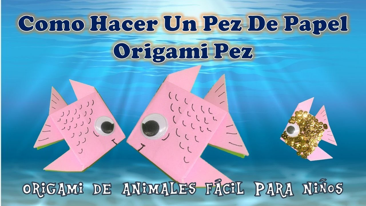 Make como hacer un pez de papel origami pez origami de for Papel decomural para ninos