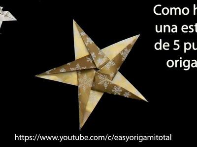 Origami origami papiroflexia manzana de papel muy - Origami de una estrella ...