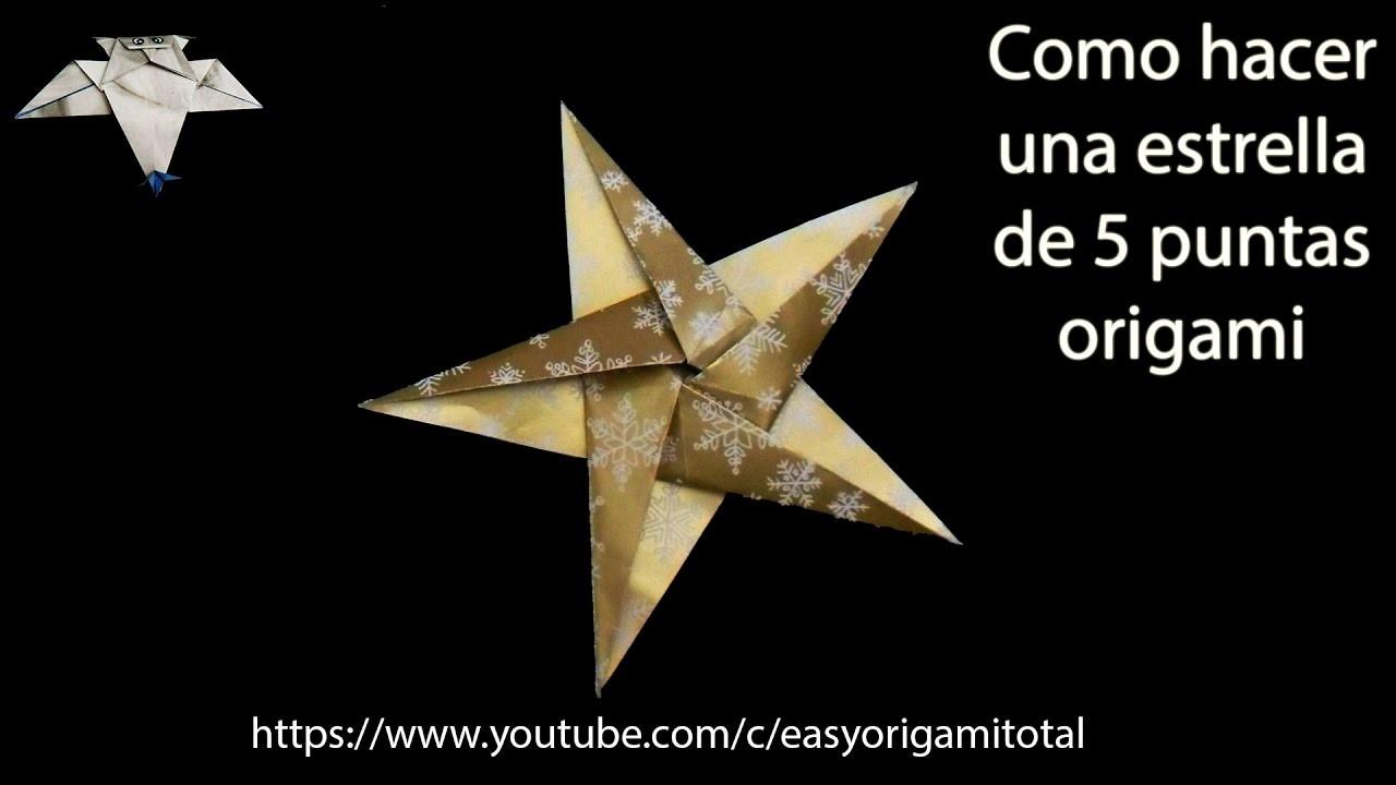 Estrella como hacer una estrella de 5 puntas origami how - Origami de una estrella ...