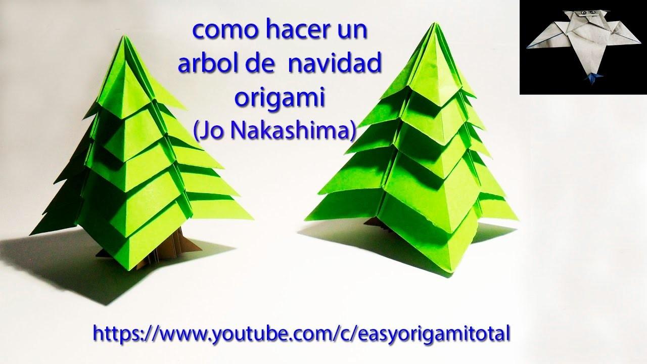 Como se hace un arbol de navidad origami dise ado por jo for Como se desarrolla un arbol