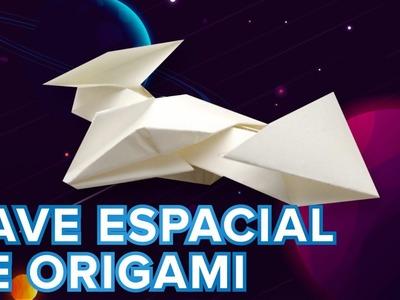 Nave espacial de papel. Origami para niños