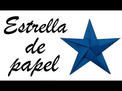 ORIGAMI: ESTRELLA 5 PUNTAS DE PAPEL-Audio español - origami paper star