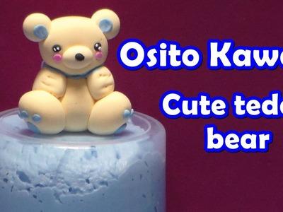 Osito kawaii (Inspiración) en foamy moldeable
