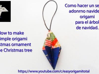 Sencillo adono navideño origami simple Christmas ornament_ornamento di natale origami