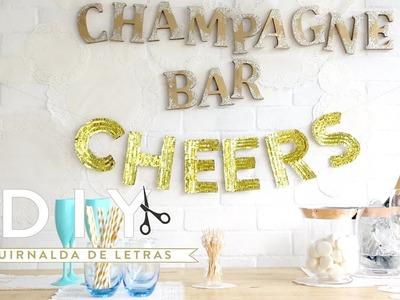 Cómo hacer una guirnalda de letras para decorar fiestas | DIY Westwing