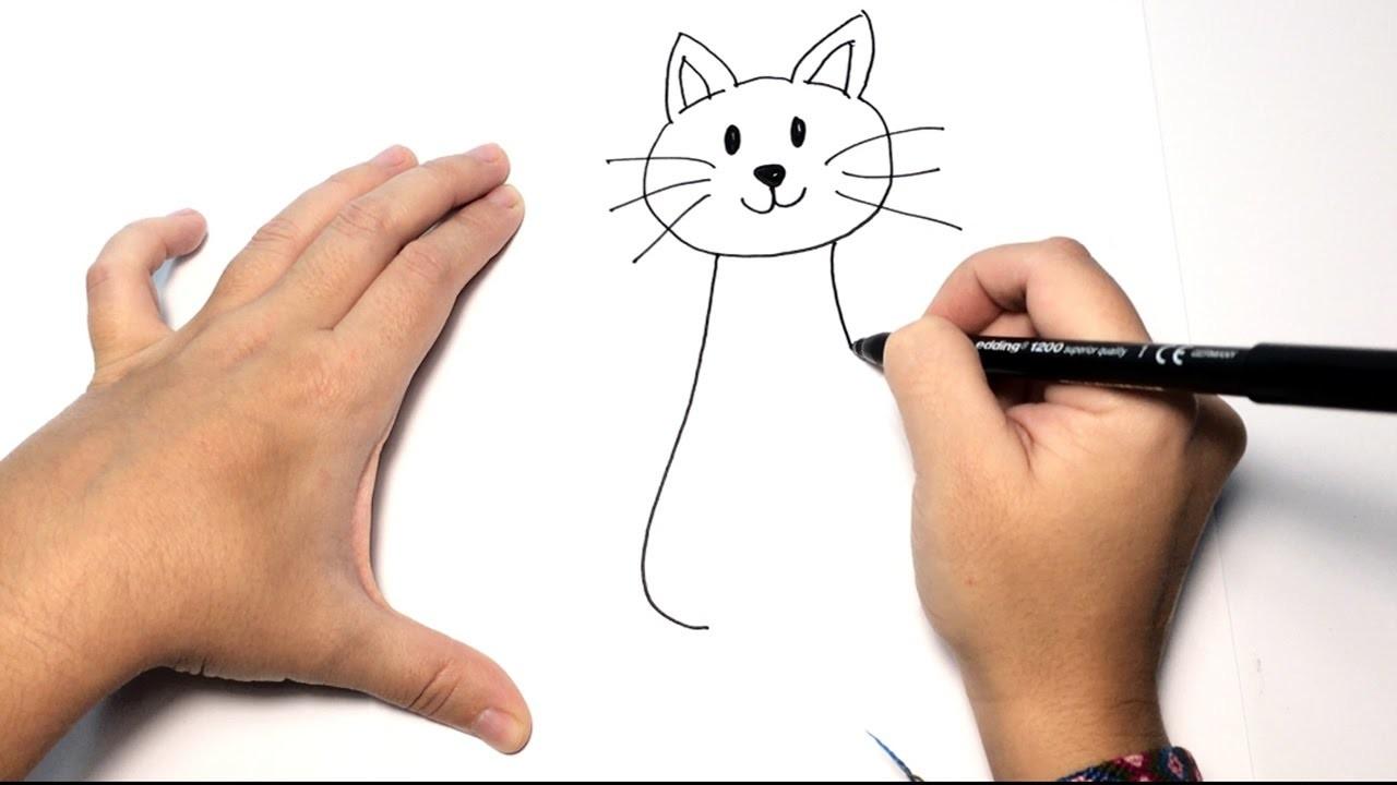 Cómo Dibujar Un Gato Paso A Paso Dibujos Fáciles De Animales Para Niños