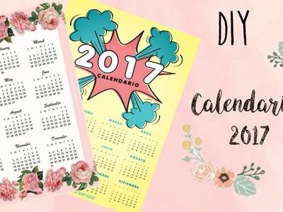 DIY CALENDARIOS 2017 PARA IMPRIMIR GRATIS!!!!!♥♥