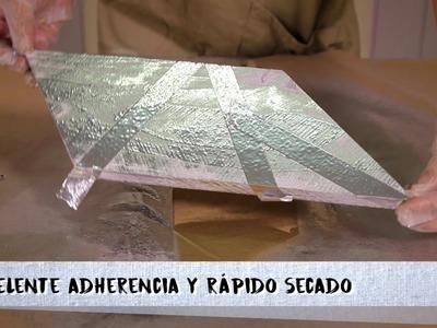 DIY Navideño - Con pintura en spray efecto oro y cromo, y pintura efecto tiza