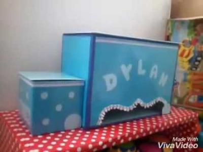 DIY Pañalera de Carton , porta pañales , porta fraldas de papelao , box baby , organizador de bebe