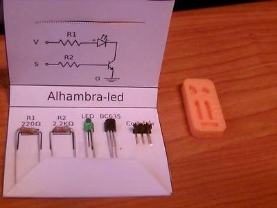 Estuche DIY de componentes para la Alhambra-led