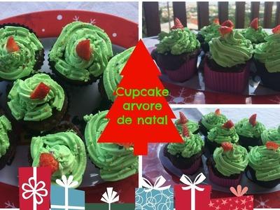 Cupcake de arvore de natal - D.I.Y natal #2