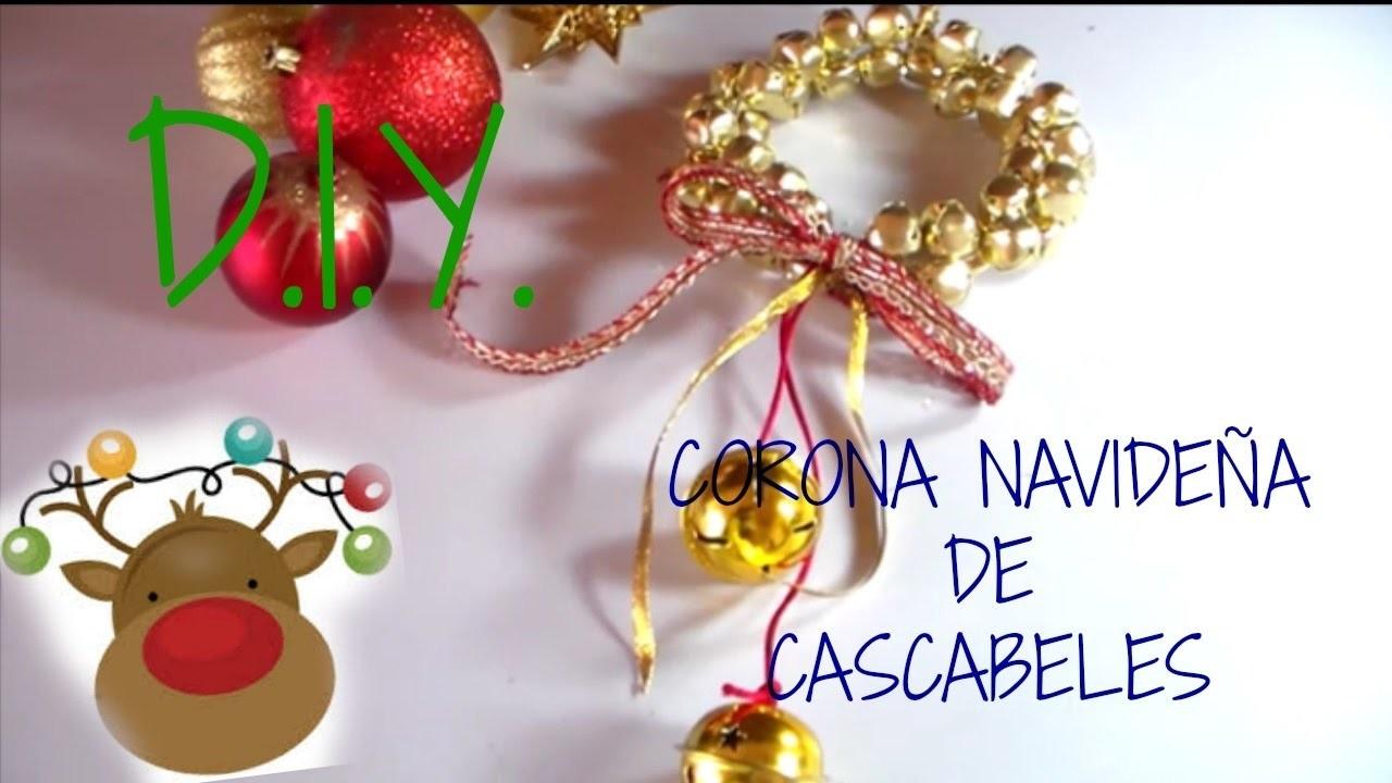D.I.Y. CORONA DE CASCABELES  PARA NAVIDAD || ALE  MUNDOFLAK